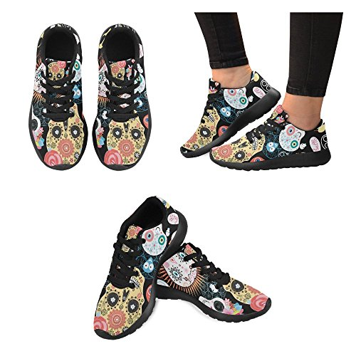 Sports for zombie Men InterestPrint Shoes Running zombie InterestPrint Beautiful Skulls xFYqtR
