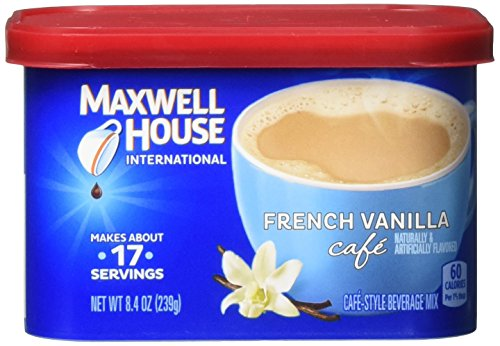 Maxwell House International French Vanilla Cafe, Beverage Mix, 4 Count, 33.6 (Make French Vanilla Coffee)