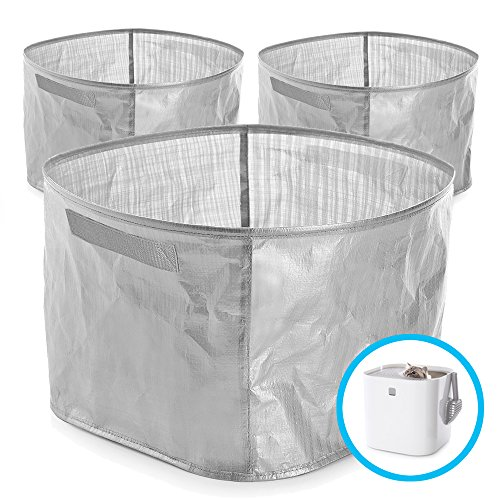 Modkat Litter Box Reusable Liner with Handles - Gray (3-Pack)