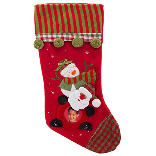 DG Home Goods Christmas Photo Stocking with Personalized Pic