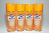 Clorox 4-in-One Disinfectant & Sanitizer Spray, Fresh Citrus, 14oz Aerosol, 4 Per Case