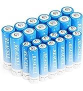 REACELL 24 Sets AA AAA Batteries Combo, 12 Pack 2800mAh AA Batteries amp; 12 Pack 1100mAh AAA Rechar...