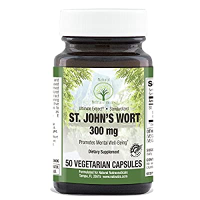 St. John's Wort by Natural Nutra – 300 mg – Vegan and Vegetarian Capsules – Supports Mental Health & Mood – Reduces Symptoms of Depression and Anxiety