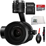 DJI Zenmuse X5S Camera and Gimbal with MFT 15mm f/1.7 ASPH Prime Lens for DJI Inspire 2 Quadcopter Drone Beginner Bundle Includes SanDisk 64 GB mircoSDXC Memory Card + Dust Blower + MORE