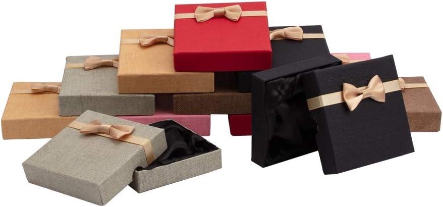 NBEADS Juego de 12 Cajas de Regalo para Pulseras de Cartón Cúbico, Caja de Regalo, 9 X 9 X 9 Cm: Amazon.es: Hogar