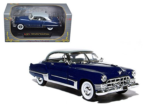 Signature Models 32422DKBL 1949 Cadillac Series 62 Sedan Dark Blue 1/32 Diecast Model Car ()