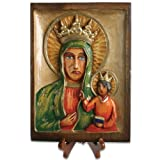 Wood Carved Icon - Black Madonna, Matka Boska Czestochowska