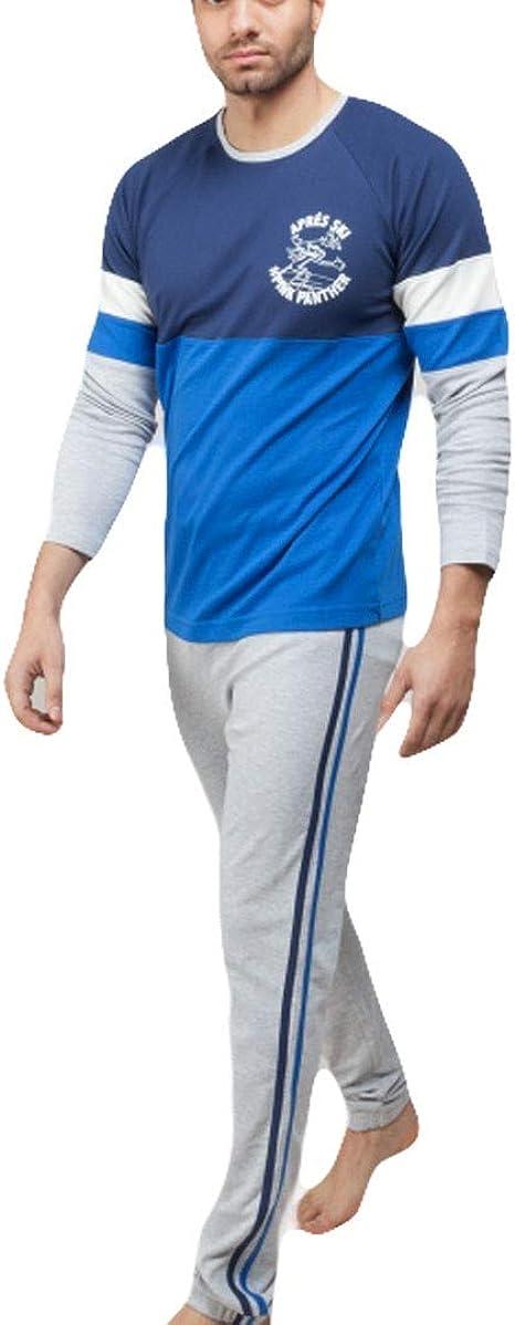GISELA - Pijama Pantera Rosa Chico Hombre Color: Azul Talla ...