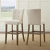 Steve Silver Debby Bar Chair Beige - Set of Two DB600BC