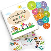 Baby Memory Book: Capture Baby's First 5 Years of Milestones, Memories, Moments, Holidays, and Firsts in This 64 Page Journal Scrapbook by EmmaSweetie