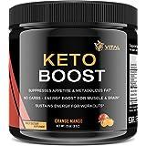 KETO BOOST - Ketone Diet Supplement - Patented BHB Salts Performance Complex (Calcium, Sodium, Magnesium) - Boosts Ketosis, Fat Burn, Energy and Focus – Mango Orange – 9 oz