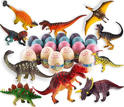 [해외]Rally Toys Larger Jumbo 3D Dinosaur Egg Puzzles Assembly Kit 20-PK (10 Most Popular Dinos x 2) More Fun Educational Action Figures Building Blocks with Instructions for Kids Egg Hunt Party Favors / Rally Toys Larger Jumbo 3D Dinosa...