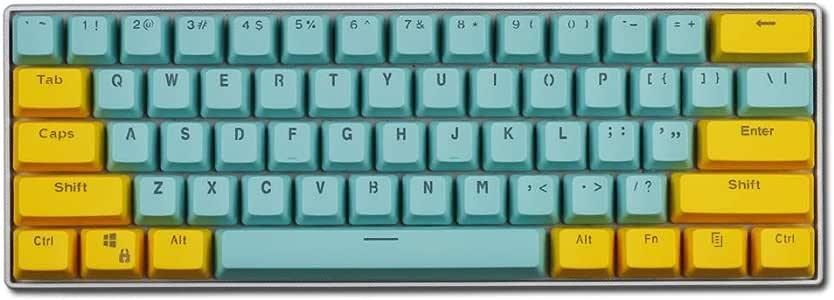 Yhongyang 61-Clave keycap Teclado mecánico PBT Helado keycap ...