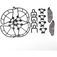 DJI Spark Propeller Guards + Landing Gear Legs Extender + Finger Hand Guard Dam-board Protection Fence for DJI SPARK(Black)