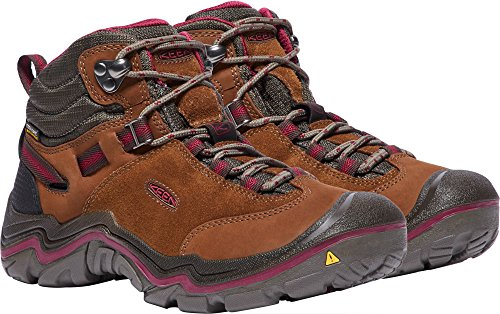 KEEN Women's Laurel Mid WP-w Trail Runner, Monks Robe/Rhododendron, 9 M US by KEEN (Image #4)