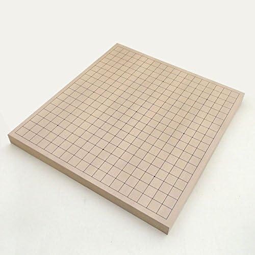 囲碁セット 新かや卓上接合碁盤と青ラベル碁石竹とP碁笥銘木大