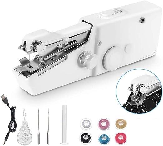 Mini Portátil Máquina de Coser de Mano Eléctrica Inalámbrica para ...