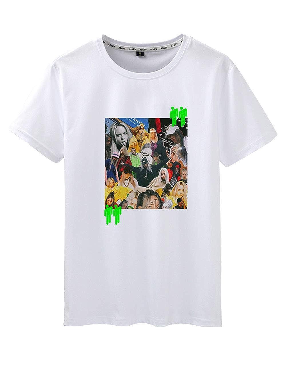 Unisex Trend Singer per Billie Eilish Maglietta Bury a Friend Hip Pop Cool T-Shirt Top Camicetta Maniche Corte per Uomo Donna Teen