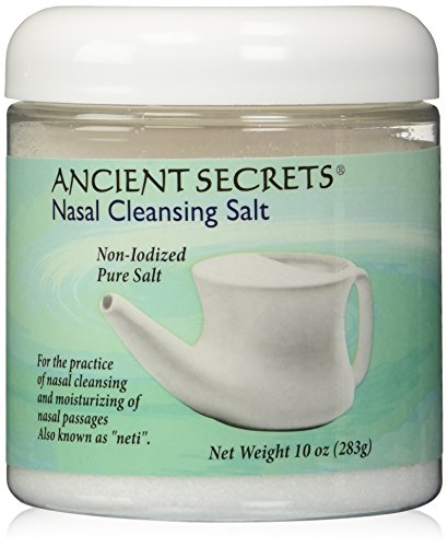 Nasal Cleansing Salt Jar Ancient Secrets 10 oz Salt