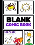 Blank Comic Book: Create Your Own Comic Strip, Blank Comic Panels, 135 Pages, Purple (Large, 8.5 x 11 in.) (Action Comics)...