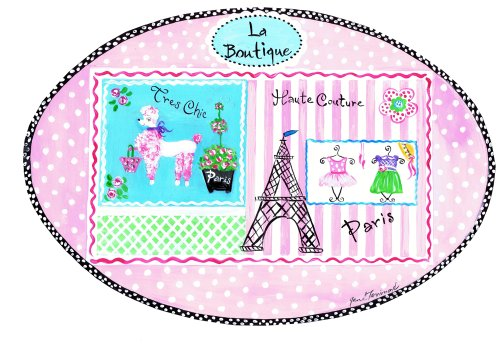 The Kids Room by Stupell La Boutique Tres Chic Paris Haute Couture Oval Wal ()