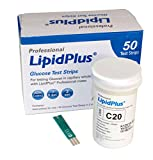LipidPlus LIPID & GLUCOSE TESTING - Lipid Profile & Glucose Measuring System, Glucose Test Strips, MD540 (Box of 50)