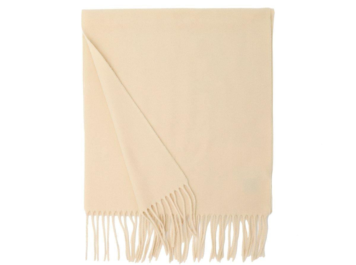 MA.AL.BI. Fine Italian Ivory Wool Scarf 15'' x 71''