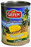 Gefen Fruit Refresher Pineapple Crushed KFP 20 Oz. Pack Of 3.