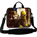 Hot Sale 13 Inch Adjust Shoulder Laptop Carrying Bag With The Simpsons Homer Marge Bart Art Breaking Bad Neoprene Laptop Sleeve for 13 13.3 Inch Laptop Bag(Twin Sides)
