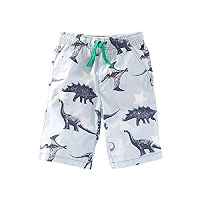 SanReach Toddler Boys' Cotton Dinosaur Printed Shorts