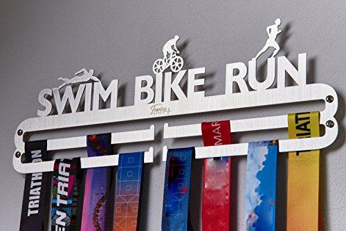 (Over 33 Sports Styles Designed Medal Hanger Medal Holder for Every Sport Activity. (Swim Bike Run Triathlon))