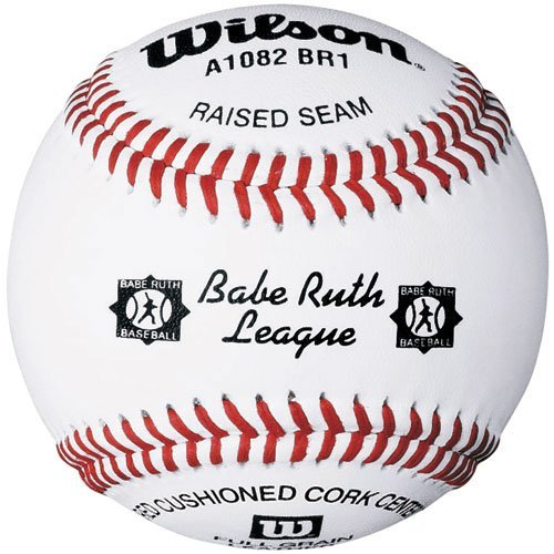 Wilson A1082 Babe Ruth League Series Baseball (12-Pack), White