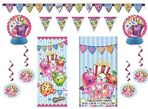 Shopkins Party Pack ~ Decoration Kit, Party Door Poster, Banner, Tablecover by design wewr