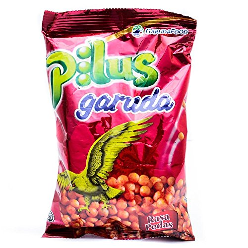 Price comparison product image Garuda Snack Pilus Pedas - Spicy Shaped Ball Crackers,  3.35 Oz (Pack of 4)