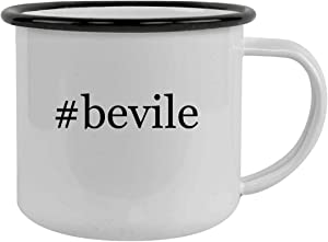 Rubber Docking #bevile - Sturdy 12oz Hashtag Stainless Steel Camping Mug, Black