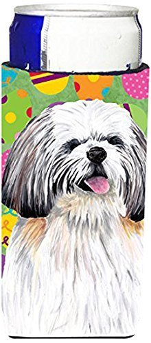 Caroline's Treasures SC9463MUK Shih Tzu Easter Eggtravaganza Michelob Ultra Koozies, Slim, Multicolor by Caroline's Treasures Multicolor by Caroline's Treasures