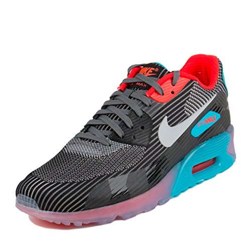 Nike Air Max 90 KJCRD ICE QS Men's Running Shoes 744553-001 Dark Grey Black-Blue Lagoon-Wolf Grey 11 M US (Nike Air Max 90 Hyperfuse compare prices)