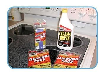 Amazon.com: Vitrocerámica limpiador y almohadillas para ...