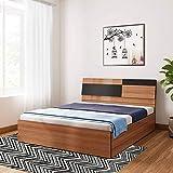 Bharat Lifestyle Rome Exotic Teak Engineered Wood Queen Box Bed (Finish Color - Exotic Teak)