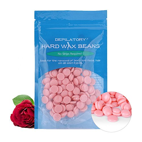 50g Wax Beans, Hair Removal Beauty Salon Depilatory Dedicated Hard Wax Bean-Growing Hair Tools with 10 Different Flavors, Suitable for Bikini and Body Hair(Rose)
