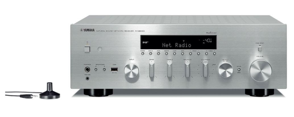 Yamaha R-N803D 100W 2.0canales Estéreo Plata - Receptor AV (100 W, 2.0 Canales, Estéreo, 220 W, 140 W, 0,019%): Amazon.es: Electrónica