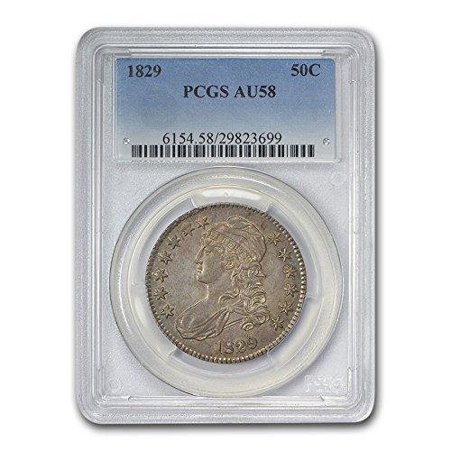 1829 Capped Bust Half Dollar AU-58 PCGS Half Dollar AU-58 PCGS