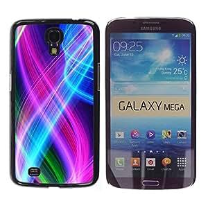 //MECELL CITY PRESENT//SmartPhone Carcasa rígida Carcasa de plástico PC Carcasa fresco imagen para Samsung Galaxy Mega 6,3///Resumen de color Espirales///