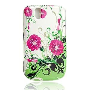 Patrón de flores de plástico Estuche protector para Blackberry 9630