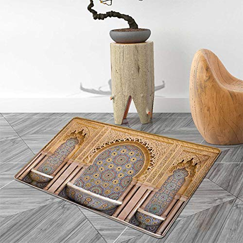 Moroccan Bath Mats Carpet Typical Moroccan Tiled Fountain in The City of Rabat Near Hassan Tower Floor Mat Pattern 30