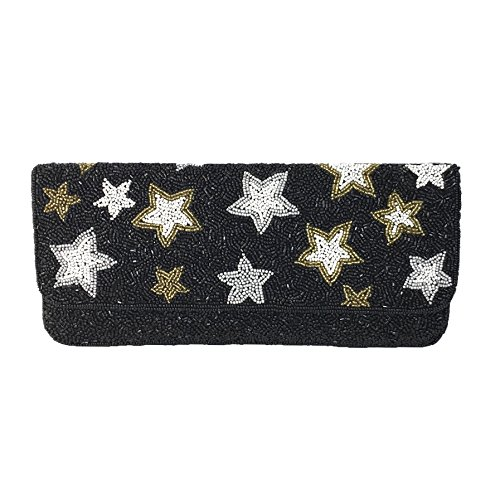 Xavier Black Stars Beaded Starry Multi St Clutch Celestial From Night FxOn5R4Hnq