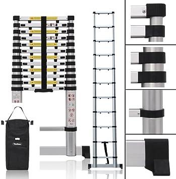 10 ft5 escalera de telescopio extensible y plegable de aluminio, 3,2 metros: Amazon.es: Bricolaje y herramientas