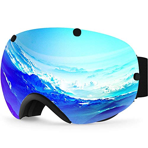 - Zionor XA Ski Snowboard Snow Goggles for Men Women Anti-Fog UV Protection Spherical Dual Lens Design
