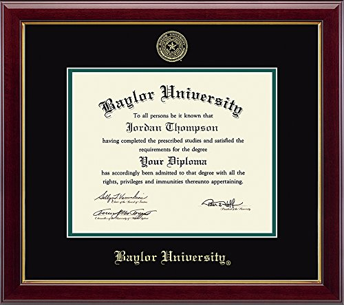 Church Hill Classics Baylor University Gold Embossed Diploma Frame - Solid Hardwood