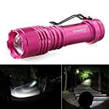WILLAI Mayitr 3 Mode Pocket Flashlight Light Mini XPE Adjustable Focus Torch Red for Outdoor Camp Hiking Lamp for AA/14500
